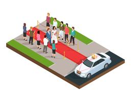 Wedding ceremony isometric composition