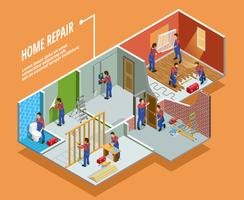 Home Repair Isometric Template vector