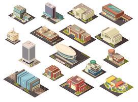 Regierungsgebäude isometrische Set