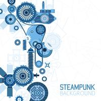 Steampunk Futuristic Background vector