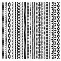 Conjunto de cadenas verticales negras vector