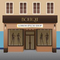 boutique byggnad illustration