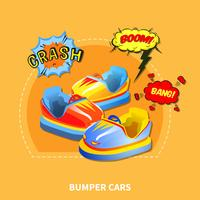 Bumper cars concept vector illustration