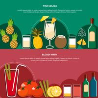 Cocktail Horizontal Banners vector