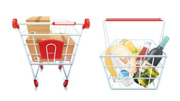 Shopping Cart And Basket Set