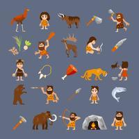Forntida platta ikoner samling