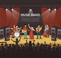 Popmuziek Band Vector Illustratie