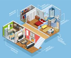 Interior Isometric Composition
