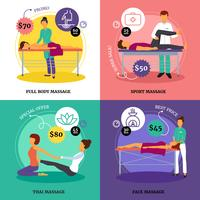 Massage Concept Icons Set
