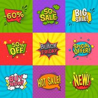 Discount Labels Set vector