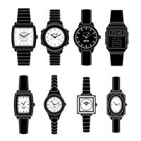Montres populaires Styles Black Icons Set
