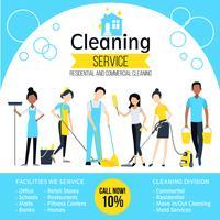 Cartaz da empresa de limpeza