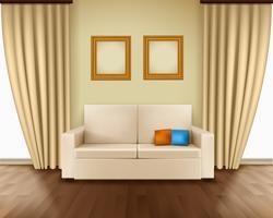 Interno realistico della stanza