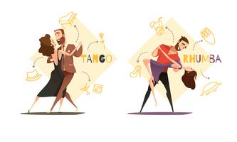 Dancing Pairs 2 Retro Cartoon Templates