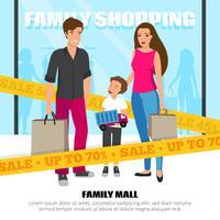 Ilustración de la gente de compras
