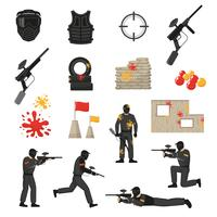 paintball pictogrammen instellen
