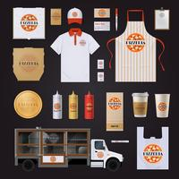 Ensemble de conception de modèle Pizza Corporate Identity