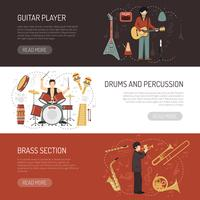 Musicians Horizontal Banners