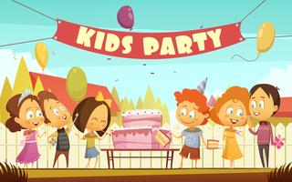 Kinder Party Cartoon Hintergrund