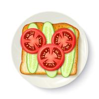 Healthy Breakfast Appetizing Top View Image vector