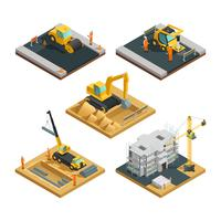 Construction Isometric Composition Set