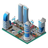 City Of Future Isometric Template