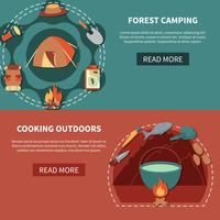 Hiking Equipment And Food Products For  Cooking Outdoors