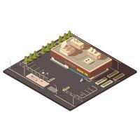 Concept de bâtiment du centre radio