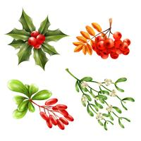 Christmas Berry Branches Set