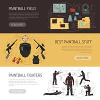 Paintball horizontale banners