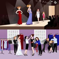 Fashion model banner set
