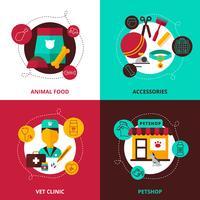 Concetto di design veterinario 2x2