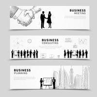 Bannière de gens d'affaires
