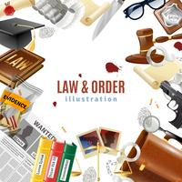 Law And Order Frame Composition Poster