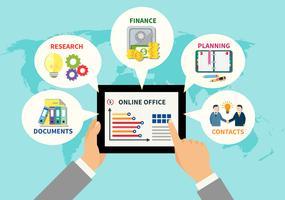 Concepto de diseño de oficina en línea