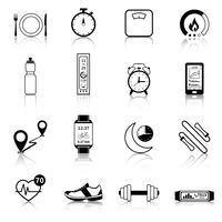 Icone di fitness Tracker nero