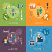 Traumatología Ortopedia 2x2 imágenes planas