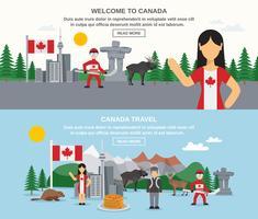 Välkommen till Kanada Banners