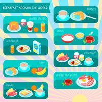 Types de petit déjeuner infographique