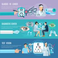 Oculist Diagnostic Center Flat Banners Set