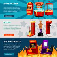 game machine banners instellen