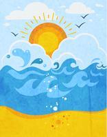 Fundo abstrato de ondas do mar