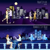 Set di banner City Nightscape Background 2