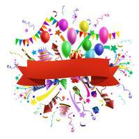 Ilustración de composición de celebración