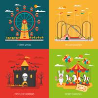 Funfair concept set vector