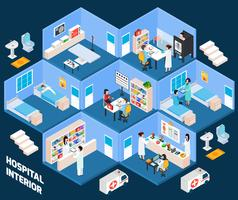 Hospital isometric interior