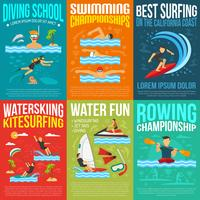 Collection d'affiches de sports aquatiques