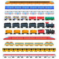 Train icons set