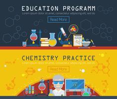 Zwei horizontale Banner für die Chemie