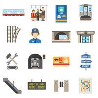Set di icone sotterraneo